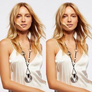 Free People Leather Montero Pendant Necklace